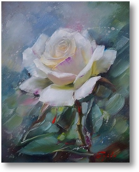 Розы картина маслом