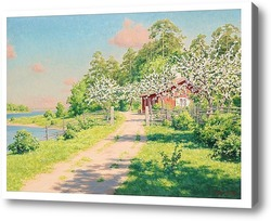 Купить картину Летний пейзаж с домом.