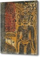 Картина Таитянский идол, 1894-95