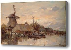 Купить картину Мельница на Лаан