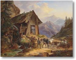 Картина На пастбище