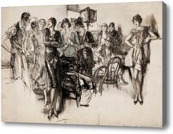 Картина Звезда в кафе, 1928