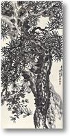 Картина Сосна и хризантема