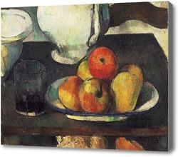 Картина Натюрморт с яблоками и стаканом с вином
