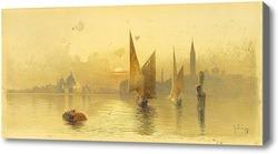 Купить картину Вид Венеции на закате, Гиаллина Ангелос