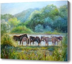 Картина Солнечные кони