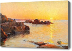 Картина Закат над морем