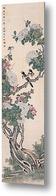 Картина Цветущее дерево с двумя птицами