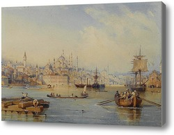 Купить картину Константинополь от входа в бухту Золотой Рог