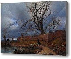 Картина Странник в буре