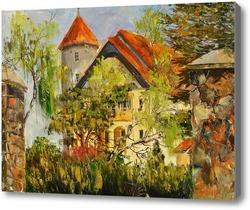 Картина Польша.Г.Леба.Замок