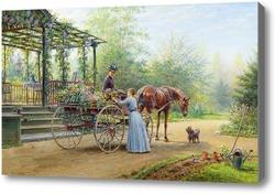 Картина Продавец цветов