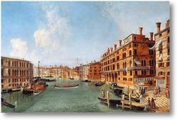 Купить картину Прекрасный вид на Венецию. Глядя северу Гранд-канал от моста Риа