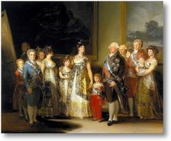 Картина Семейный портрет короля Карла IV (280 х 336)
