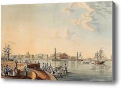 Картина «Вид на стрелку Васильевского острова с Дворцовой набережной»