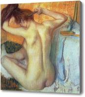 Картина Женщина за туалетом
