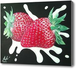 Картина Клубника со сливками .