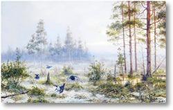 Картина Рябчики в лесу
