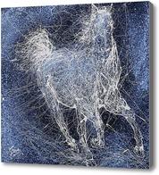 Картина Абстракция, Лошадь