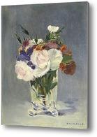 Купить картину Цветы в хрустальной вазе