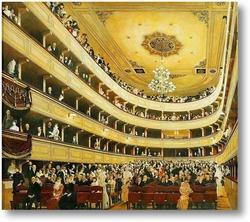 Картина Интерьер Старого городского театра (1888)