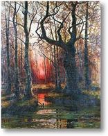 Картина Лес на закате