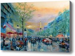 Картина Улицы Парижа (по мотивам Т. Кинкейд)