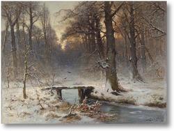 Купить картину Январский вечер в Хаагсе Бос