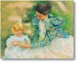 Картина Мама играющая со своим ребенком, 1897
