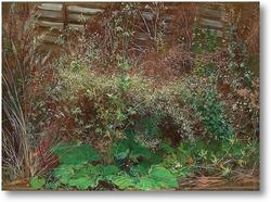 Картина Зелень под забором