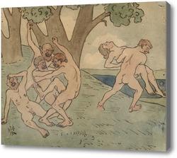 Картина Любовные игры, 1900