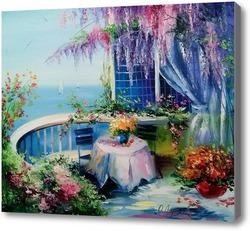 Картина На цветущем балконе
