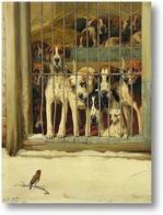 Картина Собаки и птичка