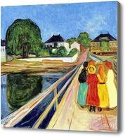 Картина Девушки на мосту