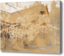 Картина Весной на даче
