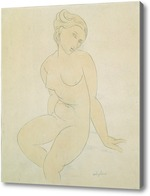 Картина Сидящая обнаженная, 1917