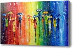 Картина Яркий дождь