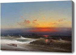 Картина Вечер на берегу моря