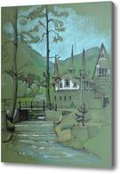 Картина Горная речка