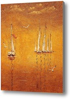 Картина Желтое море