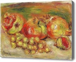 Картина Гранаты и виноград
