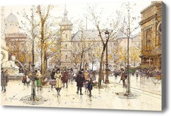 Картина Площадь Шатле