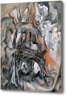 Картина Эйфелева башня с деревьями