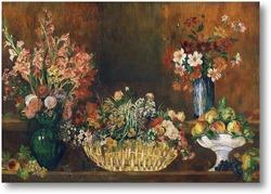 Картина Натюрморт с цветами и фруктами