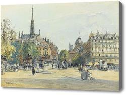 Картина Место Св.Михаила в Париже, Фулилав Джон