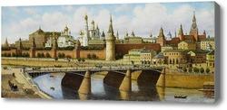 Купить картину Вид на Кремль с Москворецкого моста