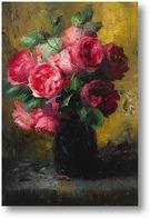 Картина Розовые розы в вазе