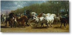 Картина Ярмарка лошади