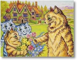 Картина Семья в саду