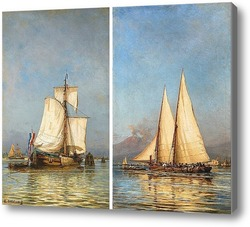 Картина Парусные яхты